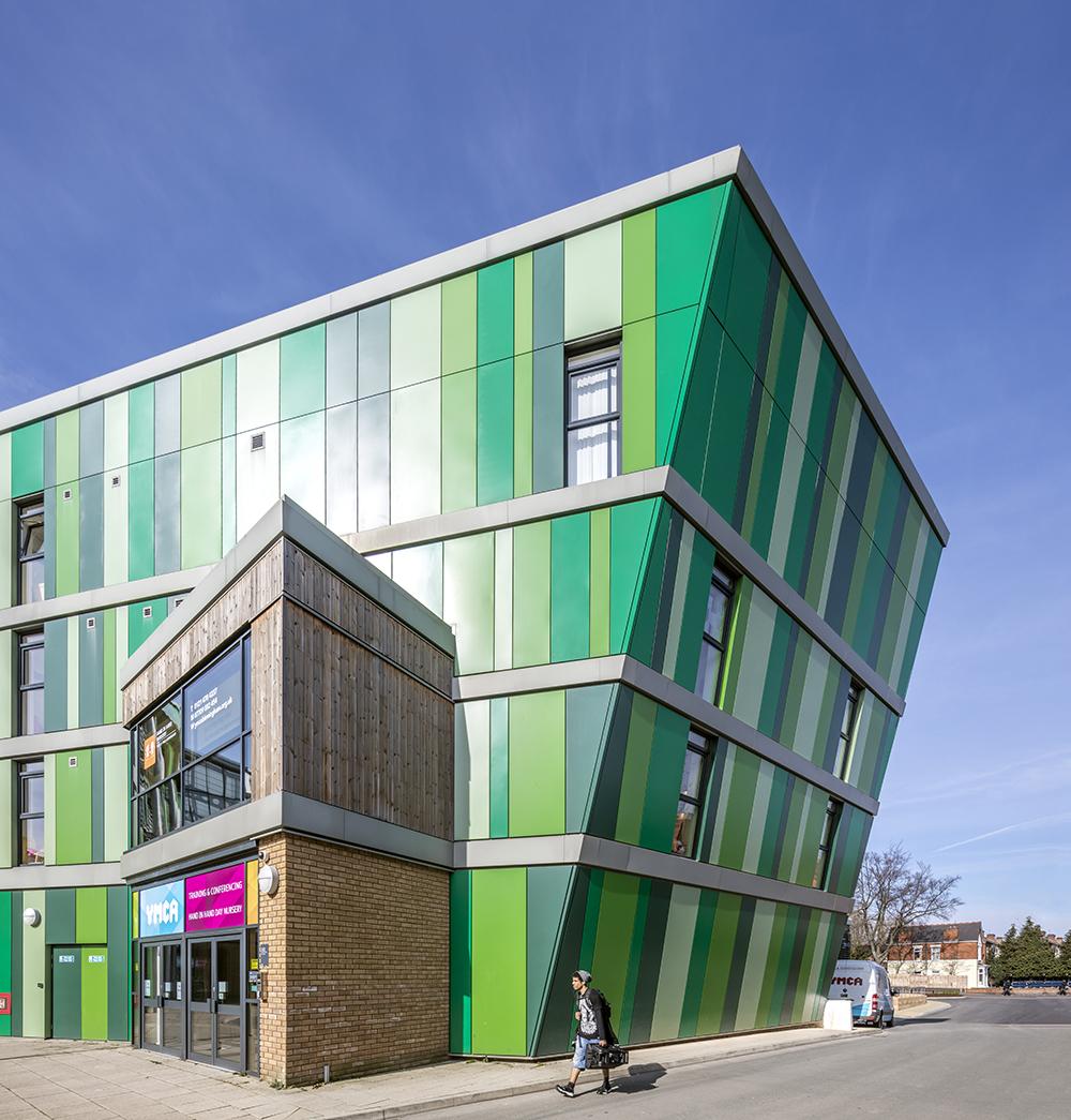 Aluminium cladding, YMCA Birmingham